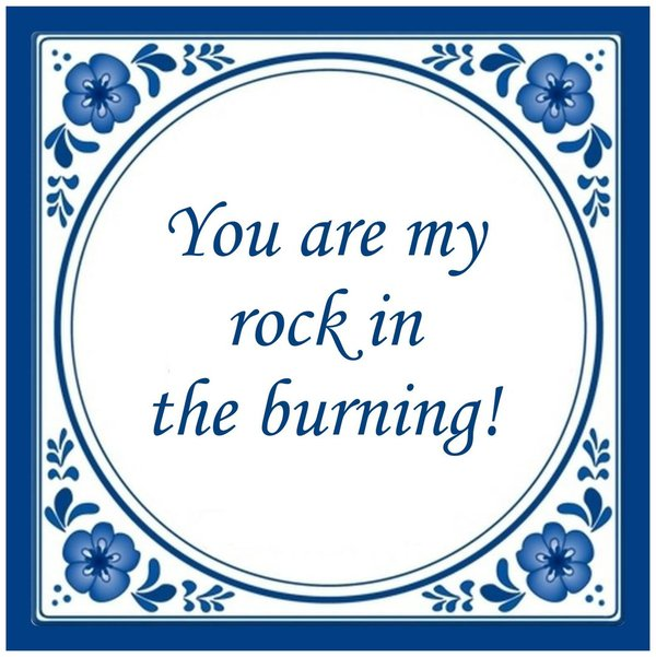 My rock in the burning Tuinposter